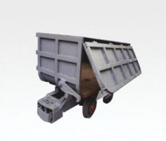 bottom dump mining car